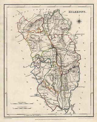 COUNTY KILKENNY antique map for LEWIS by CREIGHTON & DOWER. Ireland 1846