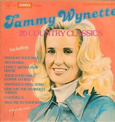 Tammy Wynette 20 Country Classics 1977 UK Vinyl LP Excellent Condition Best of