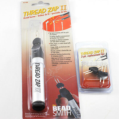 *Beadsmith- Thread Zap II Burner Zapper Tool or 2 Replacement Tips