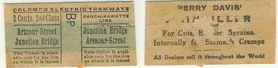 Old ticket bus / tram Sri Lanka Colombo Electric Tramways !