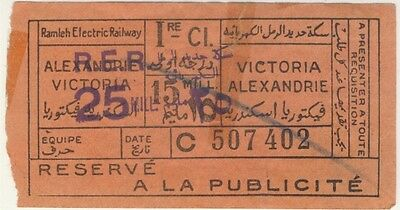 Old ticket bus / tram Alexandria Egypt !