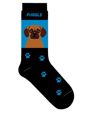 Puggle Socks Cotton Crew Stretch Egyptian Blue