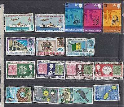 "£1.49 start - A small MINT group of  ""St Kitts, Nevis & Anguilla"" includes sets"