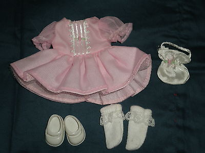 """Madeline 8"""" Doll Pink Party Dress Purse Lace Trimmed Socks White Mary Janes Exc!"""