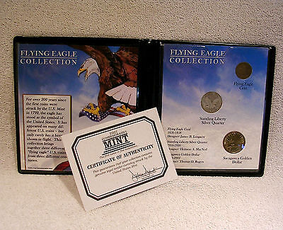 Flying Eagle Collection with 1857 Cent & 1925 Quarter - Coin Commemorative