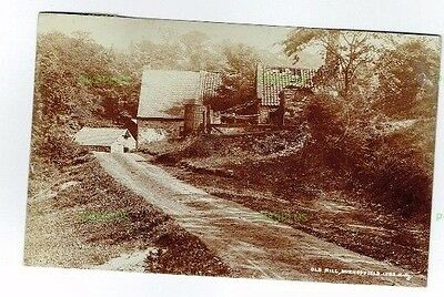 Old Postcard Old Mill At Burnopfield Co. Durham Real Photo Vintage Used 1910