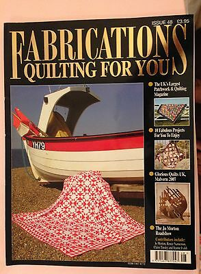 Fabrications Quilting For You Magazine Issue 48 Sewing Crafts Patchwork Projects