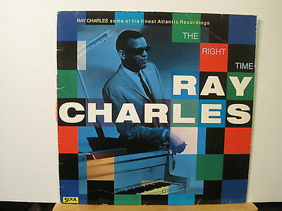 Ray Charles - The right Time - Vinyl Lp- Free UK Post
