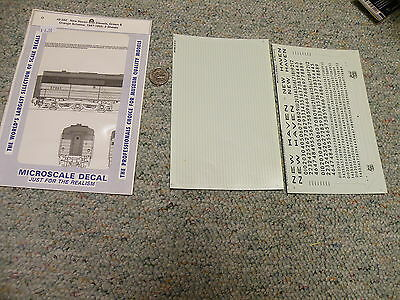 Microscale  decals O 48-582 New Haven cab diesels green orange - 2 sheets   G95