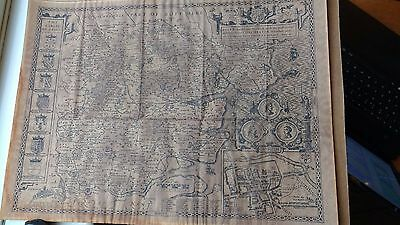old map of essex by john speed date 1610{read description)