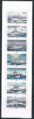 French Antarctic/TAAF 2015 Fishing Vessels 7v Bklt MNH