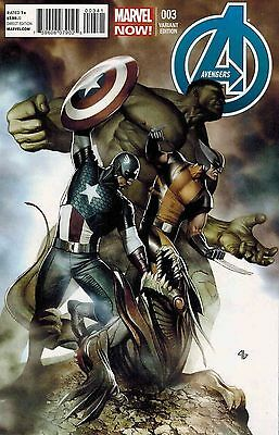 Avengers #3 Marvel Now Granov 1:50 Variant Nm First Print Bagged And Boarded