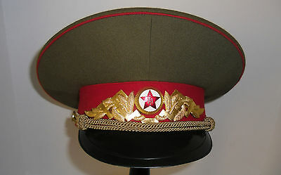 Post Soviet Communist Mongolian Army Infantry Officer General Hat Cap No Shako