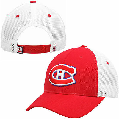 NHL - Montreal Canadiens Zephyr Red Basic Trucker Snapback Adjustable Hat