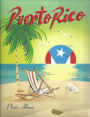 NEW PUERTO RICO SOUVENIR 7 x 9 inch POST CARD OR PHOTO ALBUM HOLDS 200 *BEACH