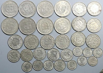 68.5 Francs Switzerland Face Value Coins VACATION Money (17011907R)