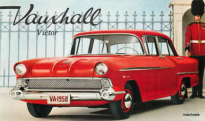 1950s Vauxhall Victor English automobile red postcard 11912
