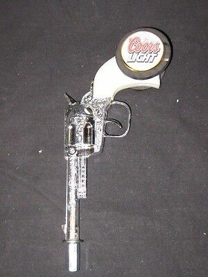 beer tap handle coors light six shooter  unique
