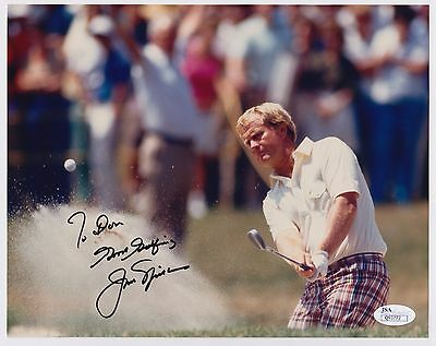 Jack Nicklaus Signed 8X10 Photo Autograph Inscribed Jsa Certificate #q93772
