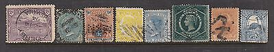 AUSTRALIA States Small Collection to 9d Inc Perfin, Cancels Etc...