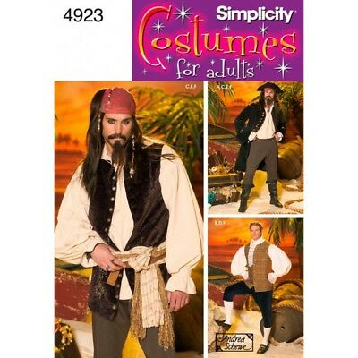 Men's Costumes Simplicity Fabric Sewing Patterns 4923