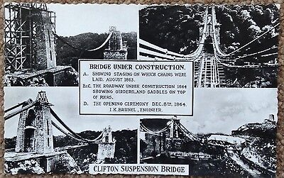 Clifton Suspension Bridge RP Postcard With Views And Facts.