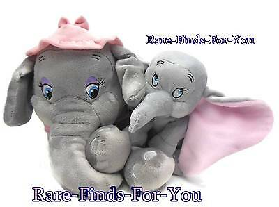 Disney Parks Baby Dumbo and Mother Mrs Jumbo Storybook Circus Plush Doll Set NEW