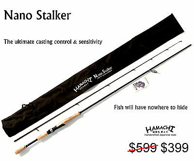 2016 HAMACHI Tackle Japan - Nano Stalker 6 - 12 LB Japanese spin fishing rod