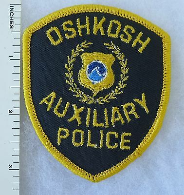 Smaller Sized OSHKOSH WISCONSIN AUXILIARY POLICE PATCH Vintage ORIGINAL