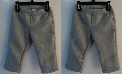 2 Pairs of Gray Warm Sweat Pants for Baby Girl's 12 Months sale