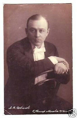 SOBINOV Russian OPERA Singer TENOR Vintage PHOTO PC bm