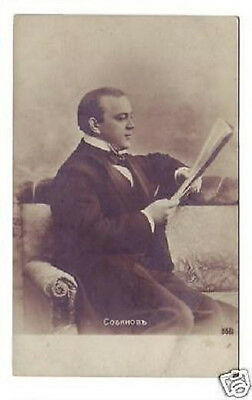 SOBINOV Russian OPERA Singer TENOR Vintage PHOTO PC ah