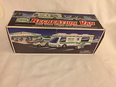 1998 HESS RECREATION VAN with DUNE BUGGY & MOTORCYLE - Complete Boxed Mint Set