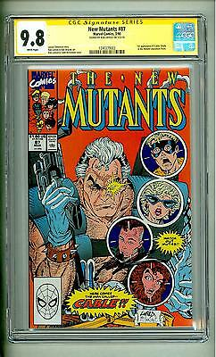 New Mutants #87 Cgc 9.8 Ss Signed Rob Liefeld Signature