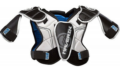 Maverik Charger Lacrosse Shoulder Pads Medium Black/Silver - NEW