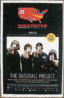 THE BASEBALL PROJECT 2013 Gig POSTER MFNW Portland Oregon Musicfest NW Concert