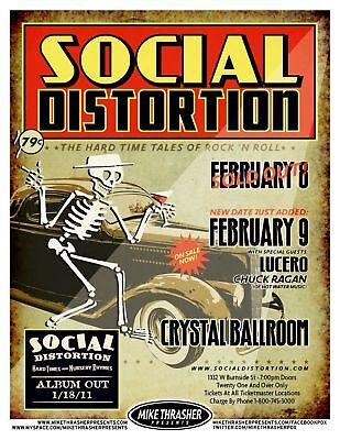 SOCIAL DISTORTION 2011 Gig POSTER Portland Oregon Concert