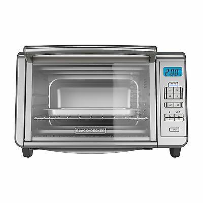 BLACK+DECKER TO3280SSD 6-Slice Digital Convection Countertop Toaster Oven, Incl