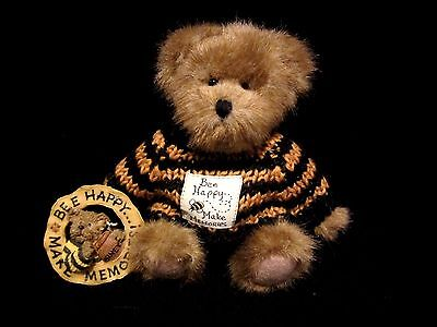 Boyds Bears F.o.B Buzzby Be Happy Teddy Bear w/Pin, Without Tag Retired 2006