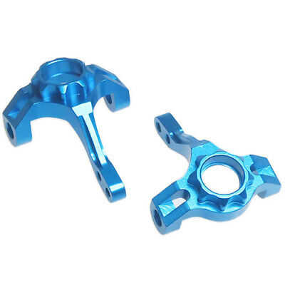 Yeah Racing Blue alloy front knuckles - front hubs for Axial SCX10 SCX10-006BU