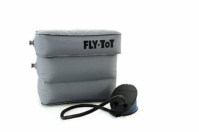 Fly Tot Inflatable Airplane Cushion (Grey, with foot pump) Brand New!
