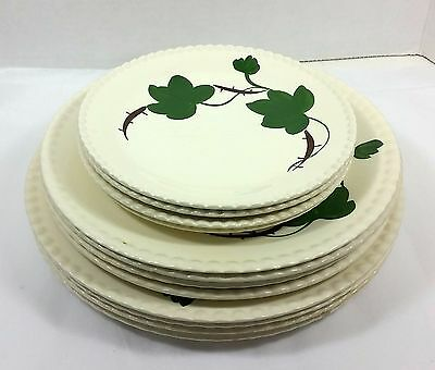 Blue ridge pottery bramble ivy 12 plates 4 dinner 4 lunch 4 bread butter