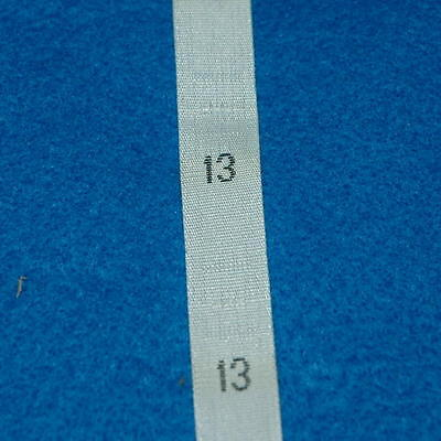 500 Pcs Woven Clothing Number Size Tags Label DIY Sewing Wholesale White Size 13