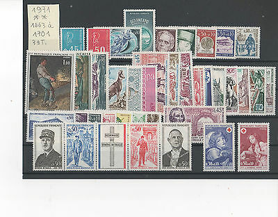 Timbres France 1971 Neufs ** ! Annee Complete !