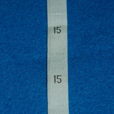 500 Pcs Woven Clothing Number Size Tags Label DIY Sewing Wholesale White Size 15
