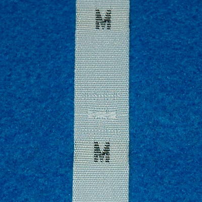 500 Pcs White Woven Clothing Letter Size Tags Labels Size M DIY Sewing Wholesale