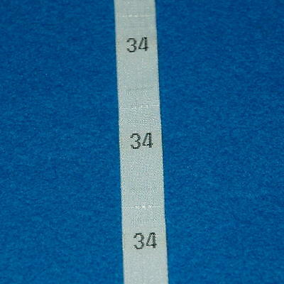 500 Pcs Woven Clothing Number Size Tags Label DIY Sewing Wholesale White Size 34