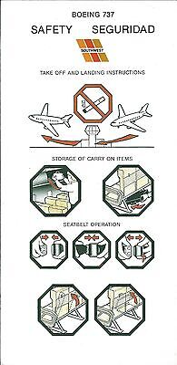 Safety Card - Southwest - B737 - 1989  (S3713)