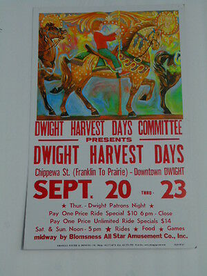 Older poster: Dwight Harvest Days, downtown Dwight