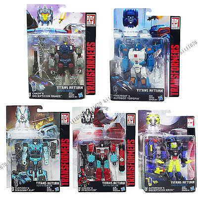 Transformers Generations Titans Return Wave 4 Deluxe Quake Krok Topspin Kup DHL
